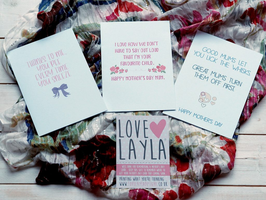 Raising a Smile on Mother's Day with Love Layla - Mother's Day cards 1