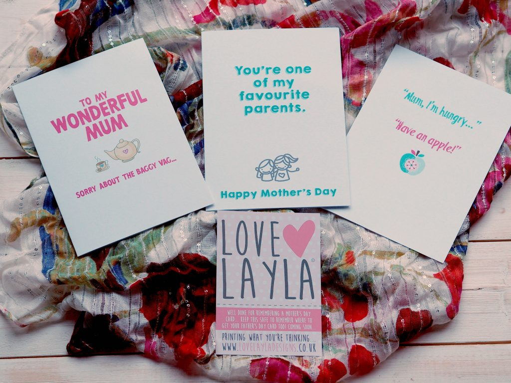 Raising a Smile on Mother's Day with Love Layla - Mother's Day cards 2