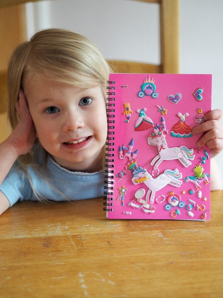 Bath, Book, Bed Routine with the Book Trust - Aria's finished journal.
