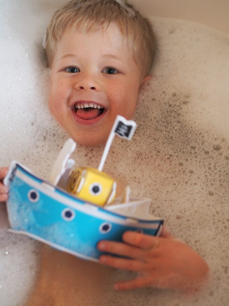 Bath, Book, Bed Routine with the Book Trust - Logan in the bath