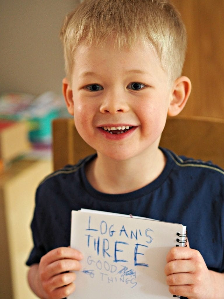Bath, Book, Bed Routine with the Book Trust - Logan's 3 good things