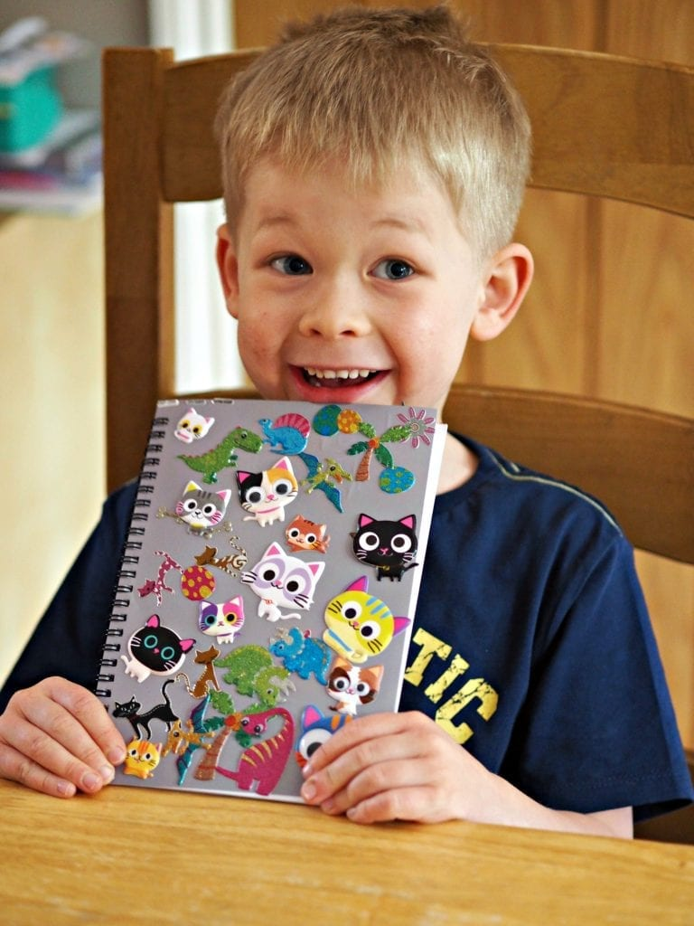 Bath, Book, Bed Routine with the Book Trust - Logan's finished journal