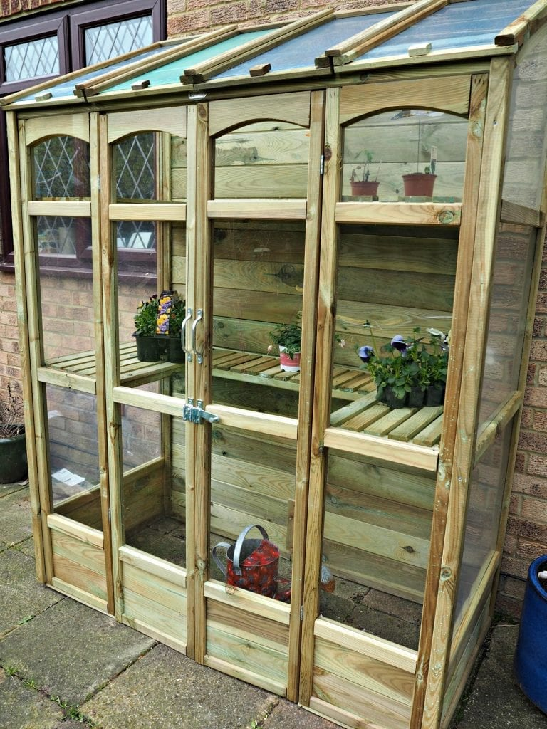 Victorian Tall Wall Greenhouse Review - side view
