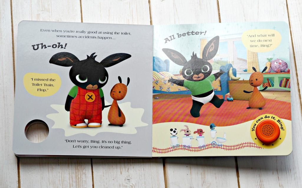 CHILDREN'S BOOK REVIEW All Aboard the Toilet Train! A Noisy Bing Book - inside book 2