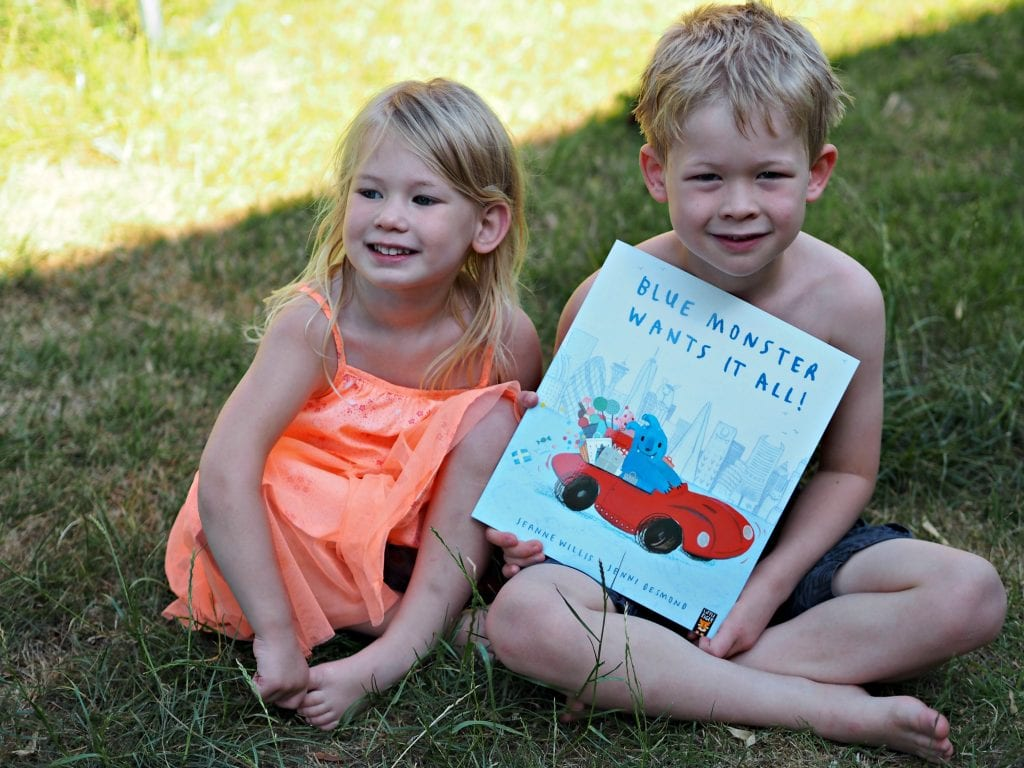 CHILDREN'S BOOK REVIEW Blue Monster Wants It All