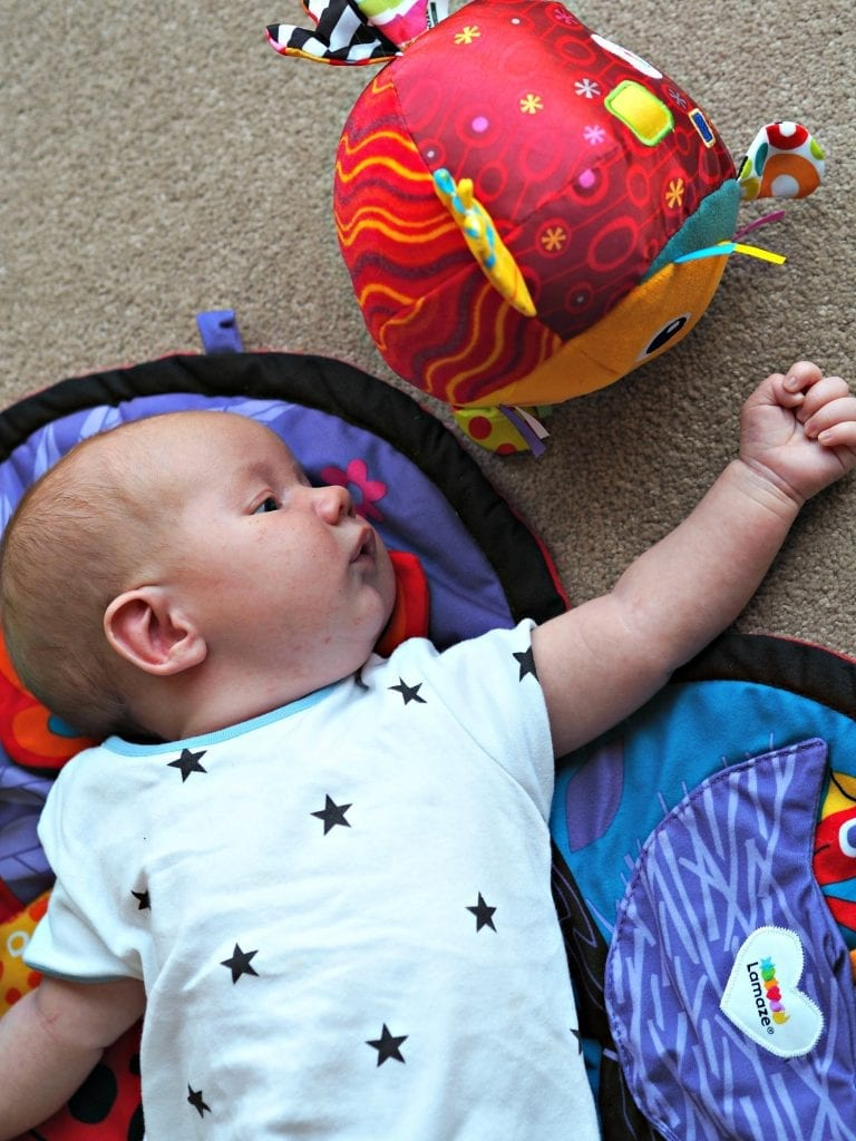 Encouraging Baby's Development with Tomy Lamaze - Bo with new toys 2