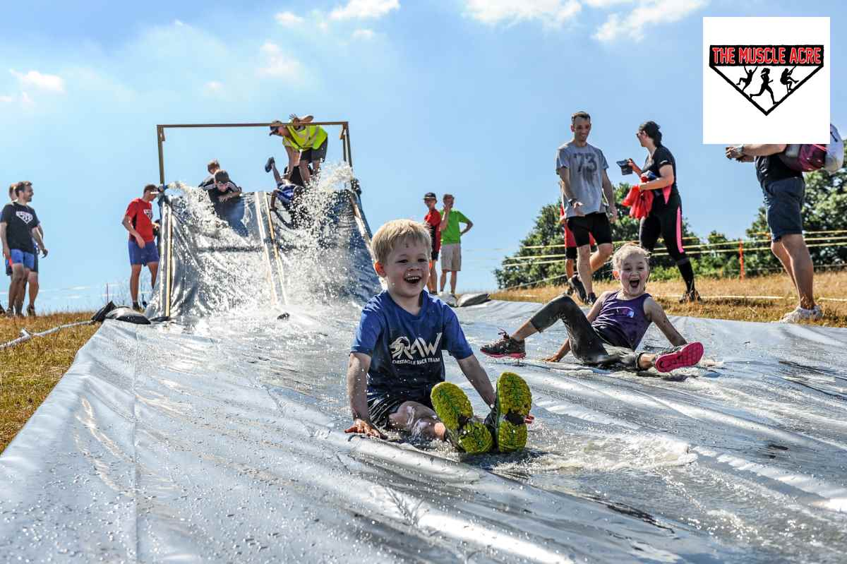 Muscle Acre Summer Madness 2018 Review - Logan waterslide
