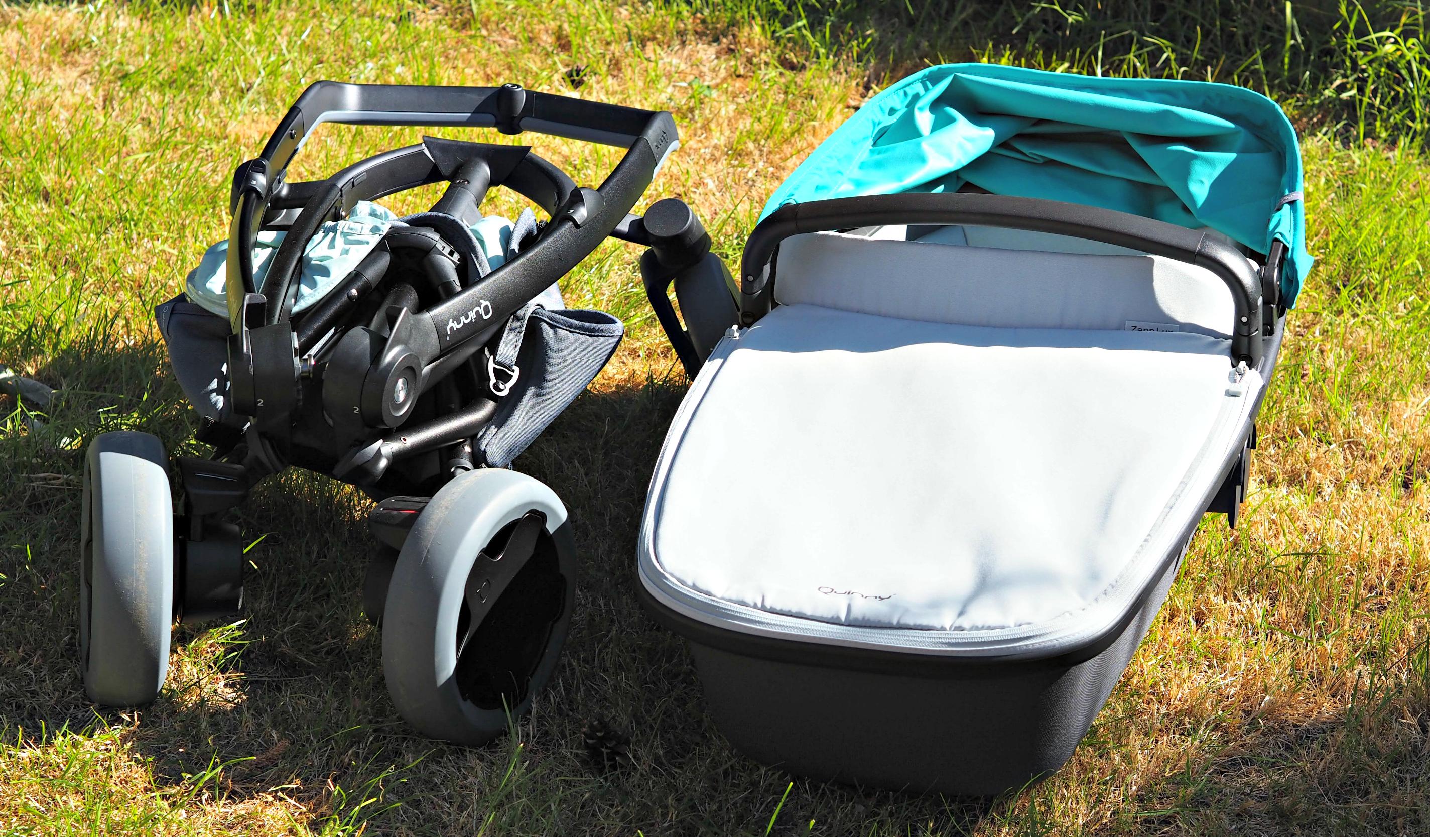 Quinny Zapp Flex Plus Carrycot Review - collapsed pram