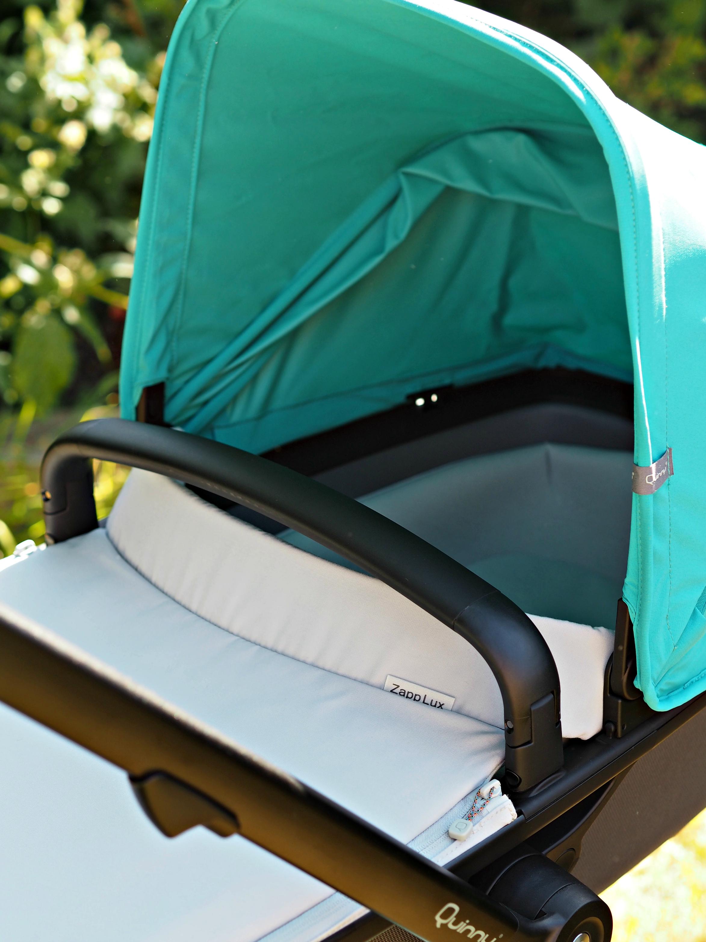 Quinny Zapp Flex Plus Carrycot Review - pram close up