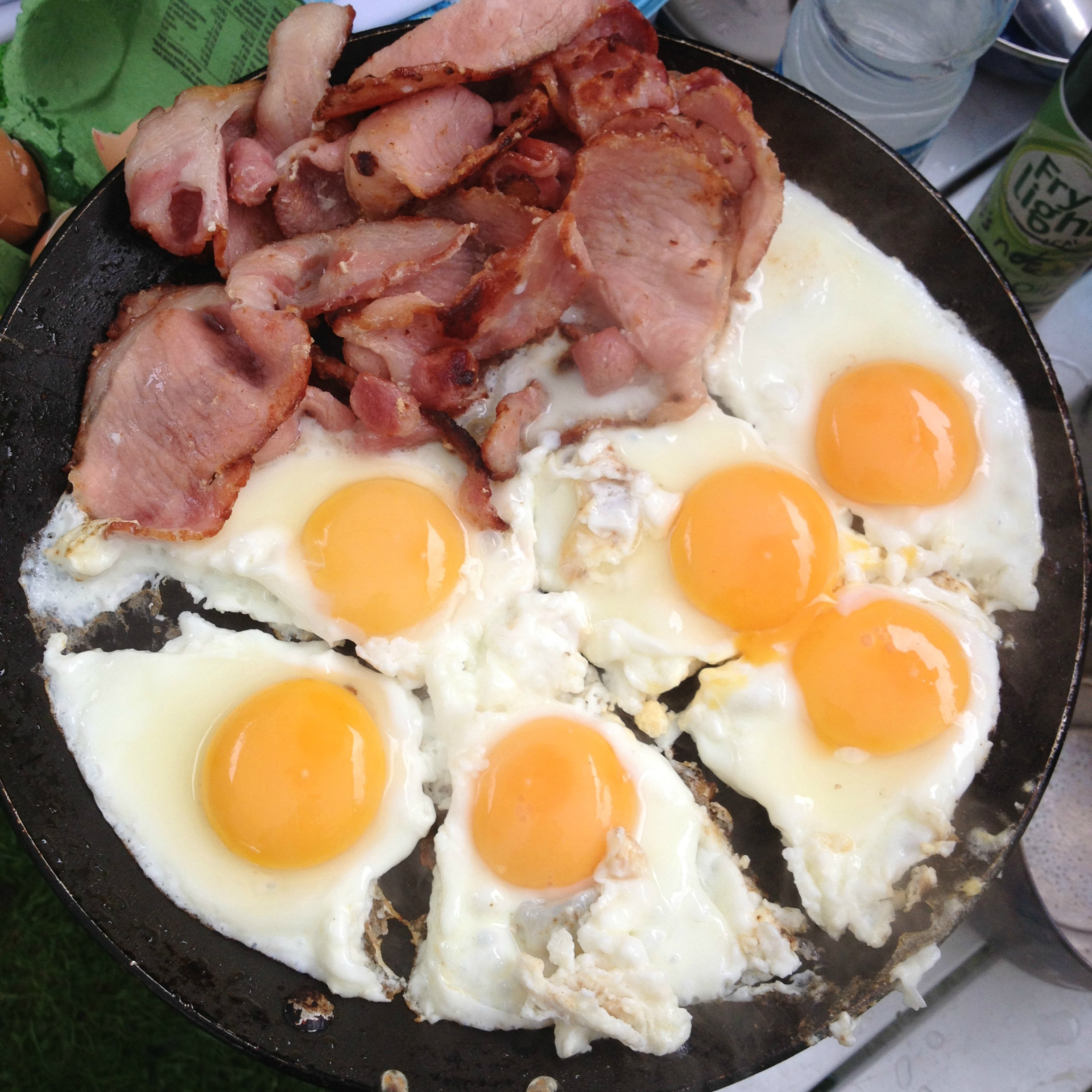 GUEST POST: An Inflatable Tent Saved my Marriage! Bacon and eggs