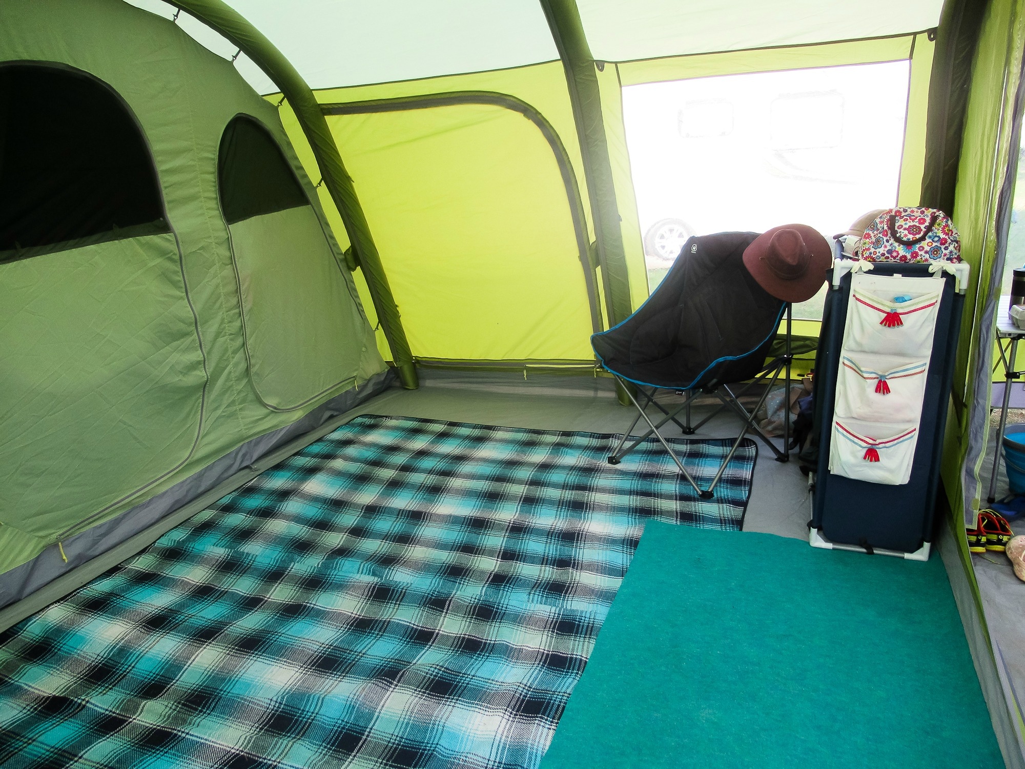 GUEST POST: An Inflatable Tent Saved my Marriage! Inside tent