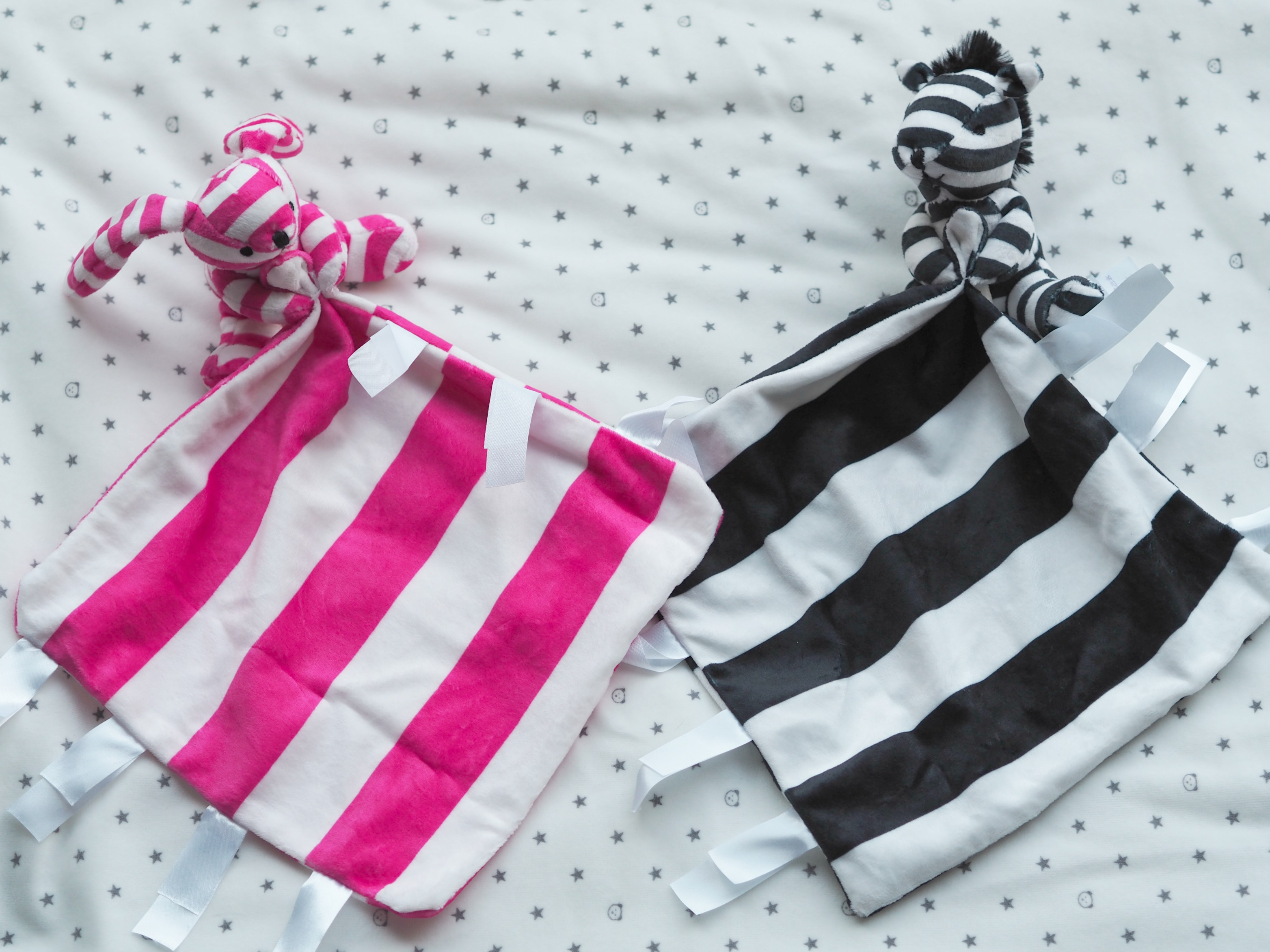 Ticklatots Tactile Soft Toys Review - black and pink