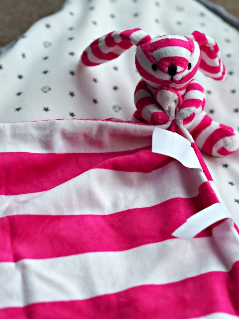 Ticklatots Tactile Soft Toys Review - pink close up