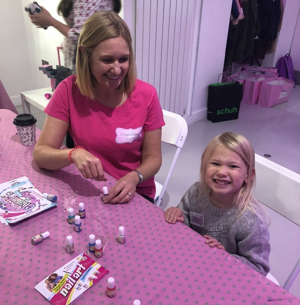 Attending the Designa Friend Event - getting her nails done