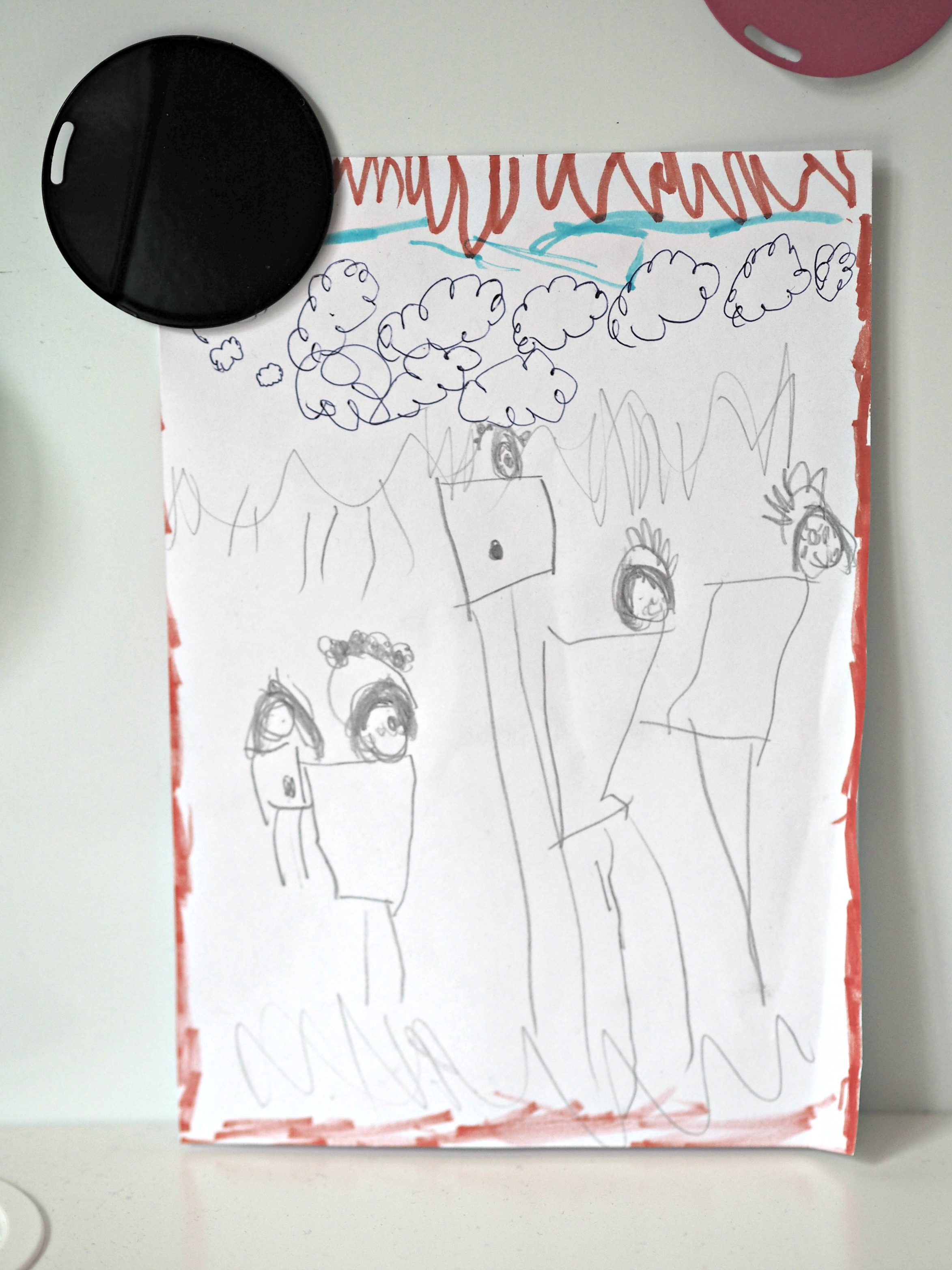 My Favourite Desk Item #MyDeskStory - Aria family drawing