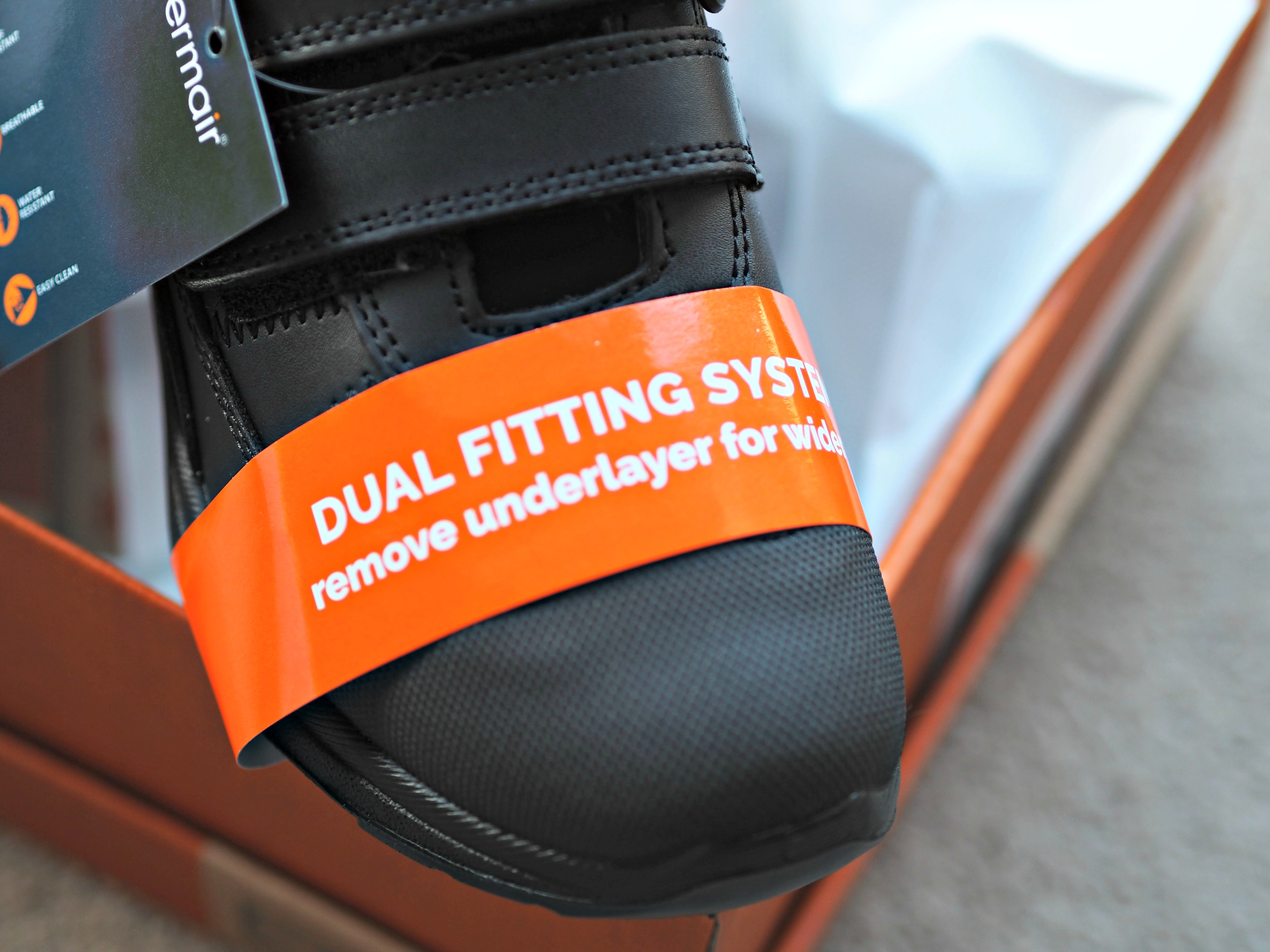 Treads School Shoes with a 12 Month Guarantee Review - dual fitting system