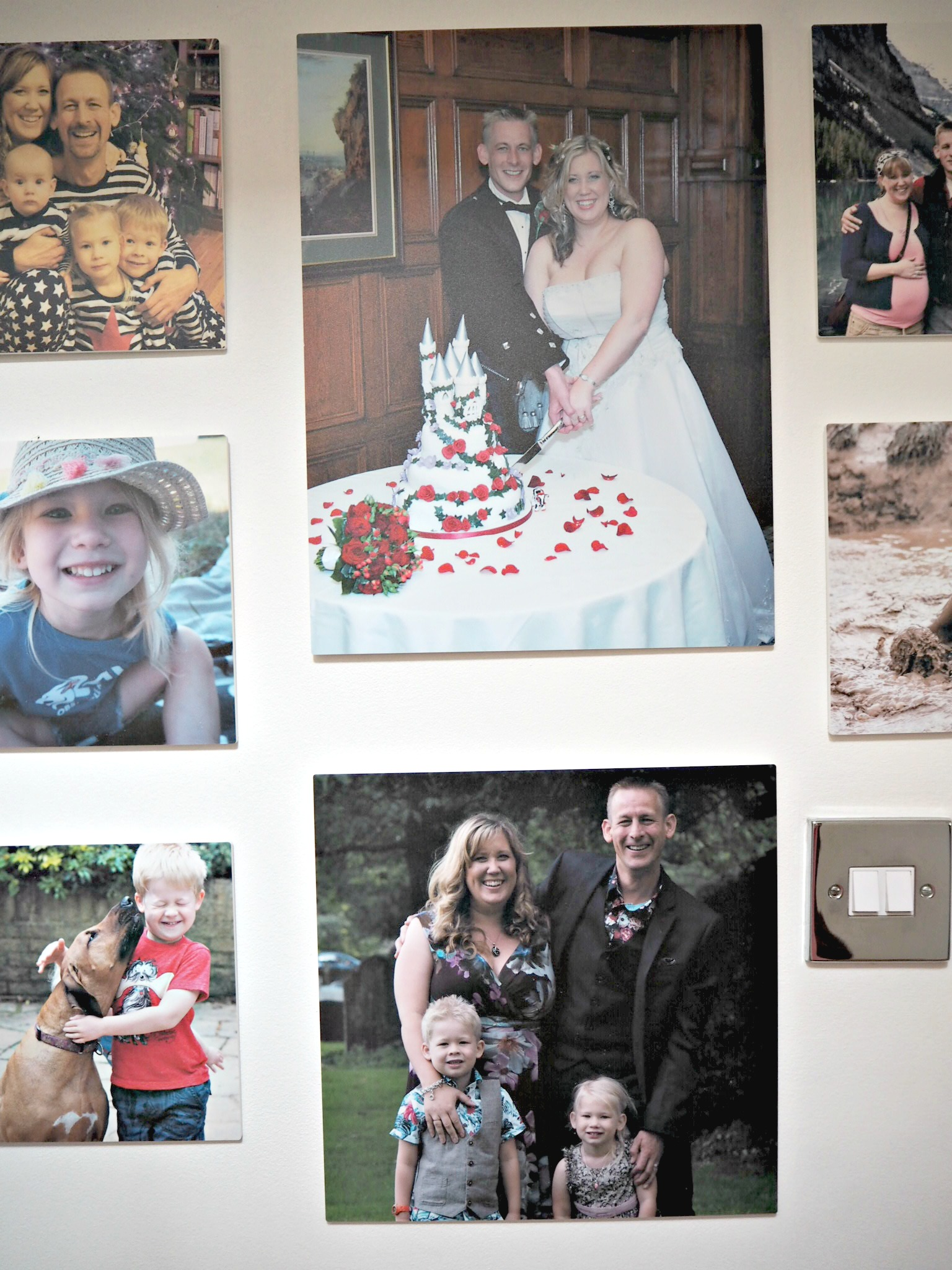 Creating a Photo Wall with MyPicture.co.uk - wedding close up