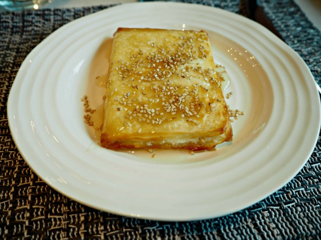 Feta in filo pastry with honey