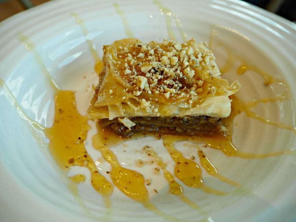 baklava - pastry, honey, nuts and caramelised pistachios