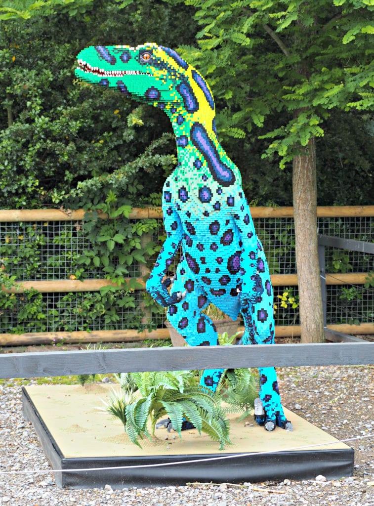 Brickosaurus blue lego dinosaur