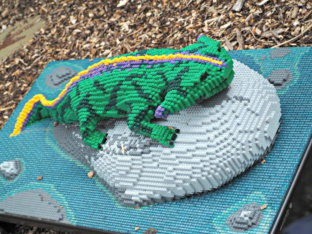 Brickosaurus lizard like dinosaur