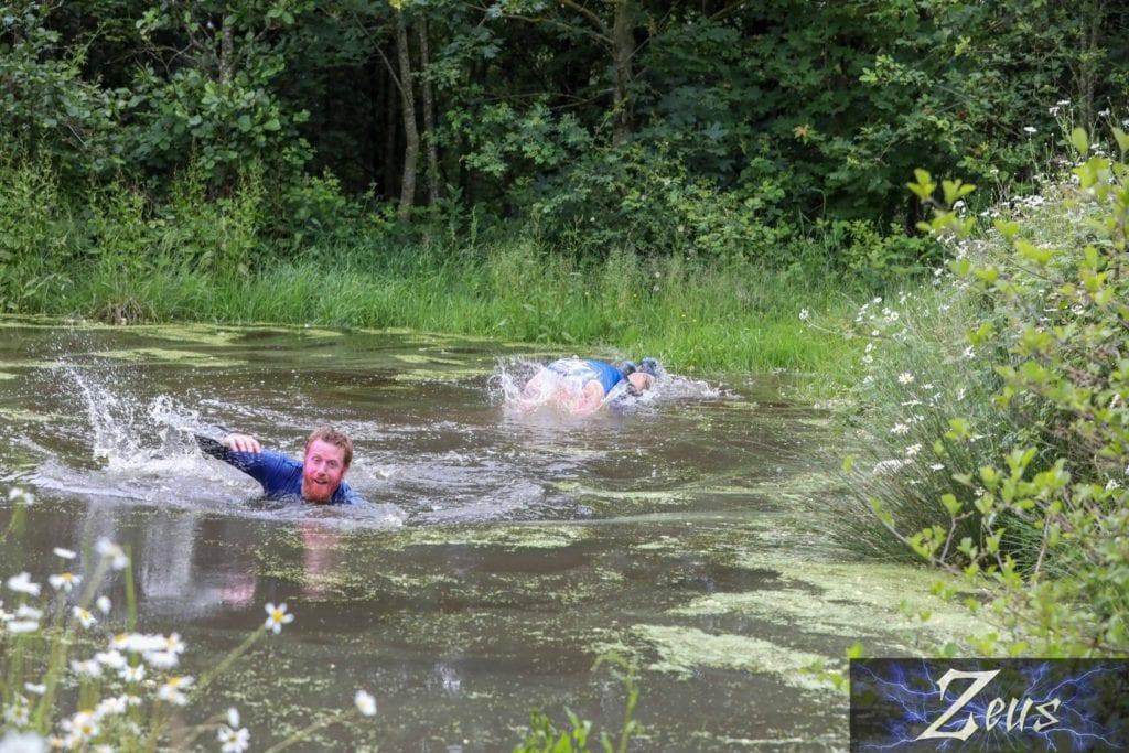 Ben diving in at Zeus obstacle race