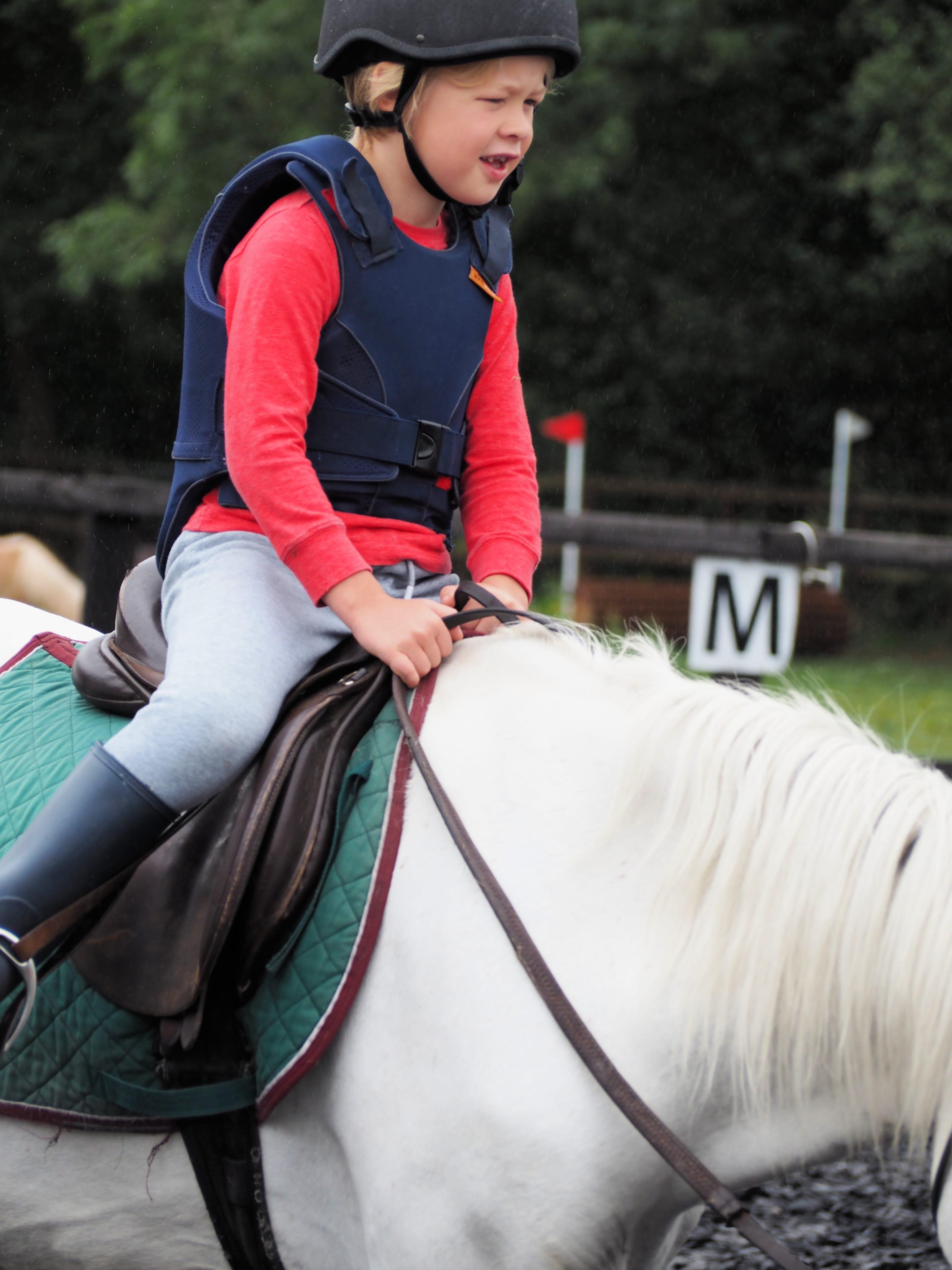 Logan riding