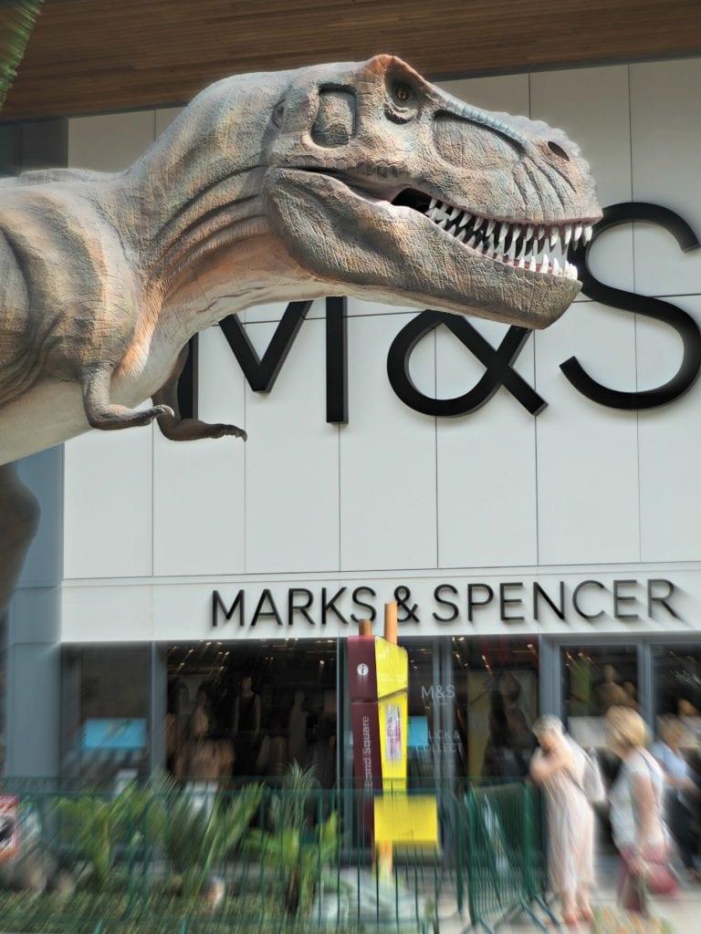 T-Rex outside of M&S