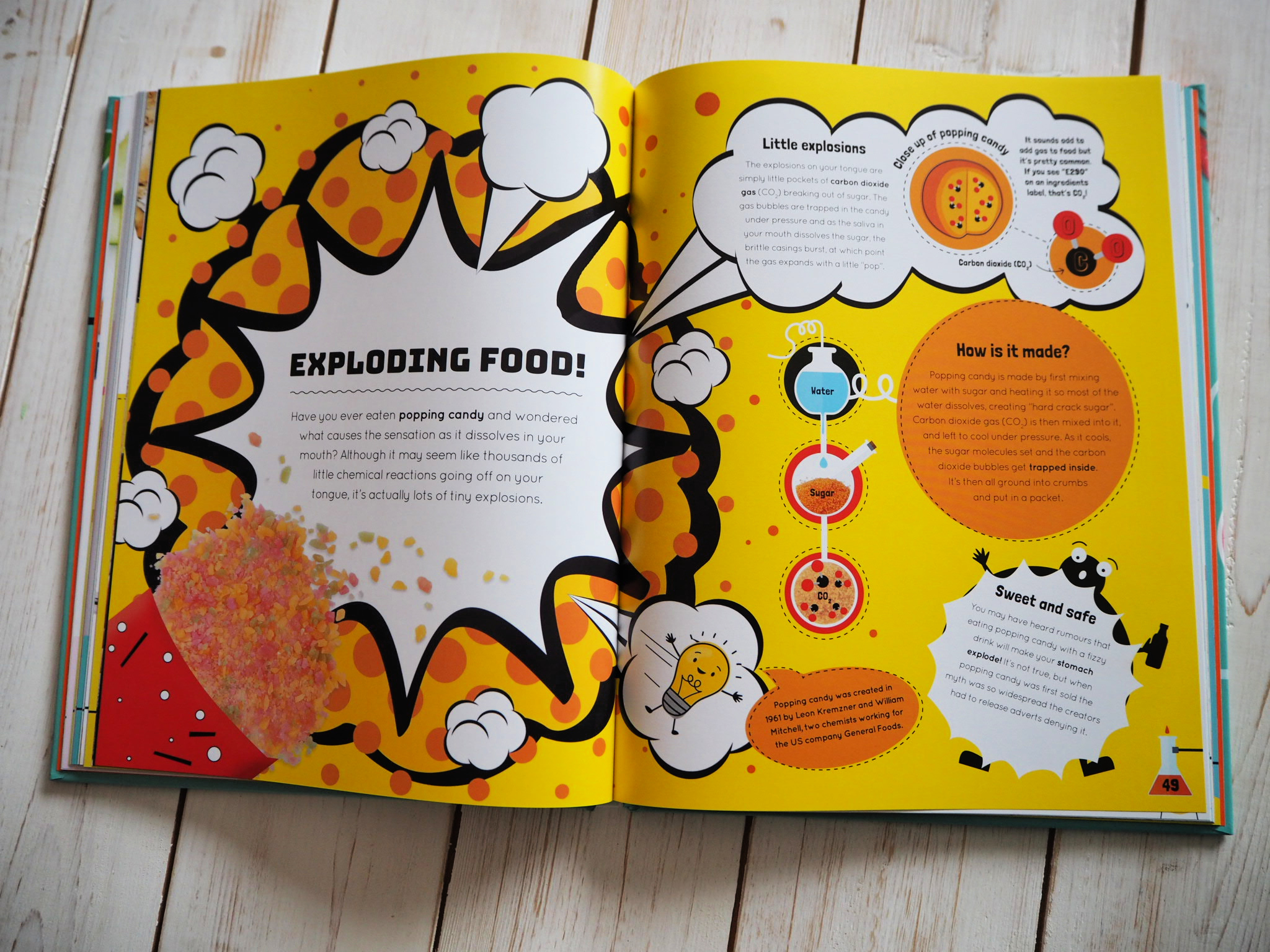 Inside the book - exploding food