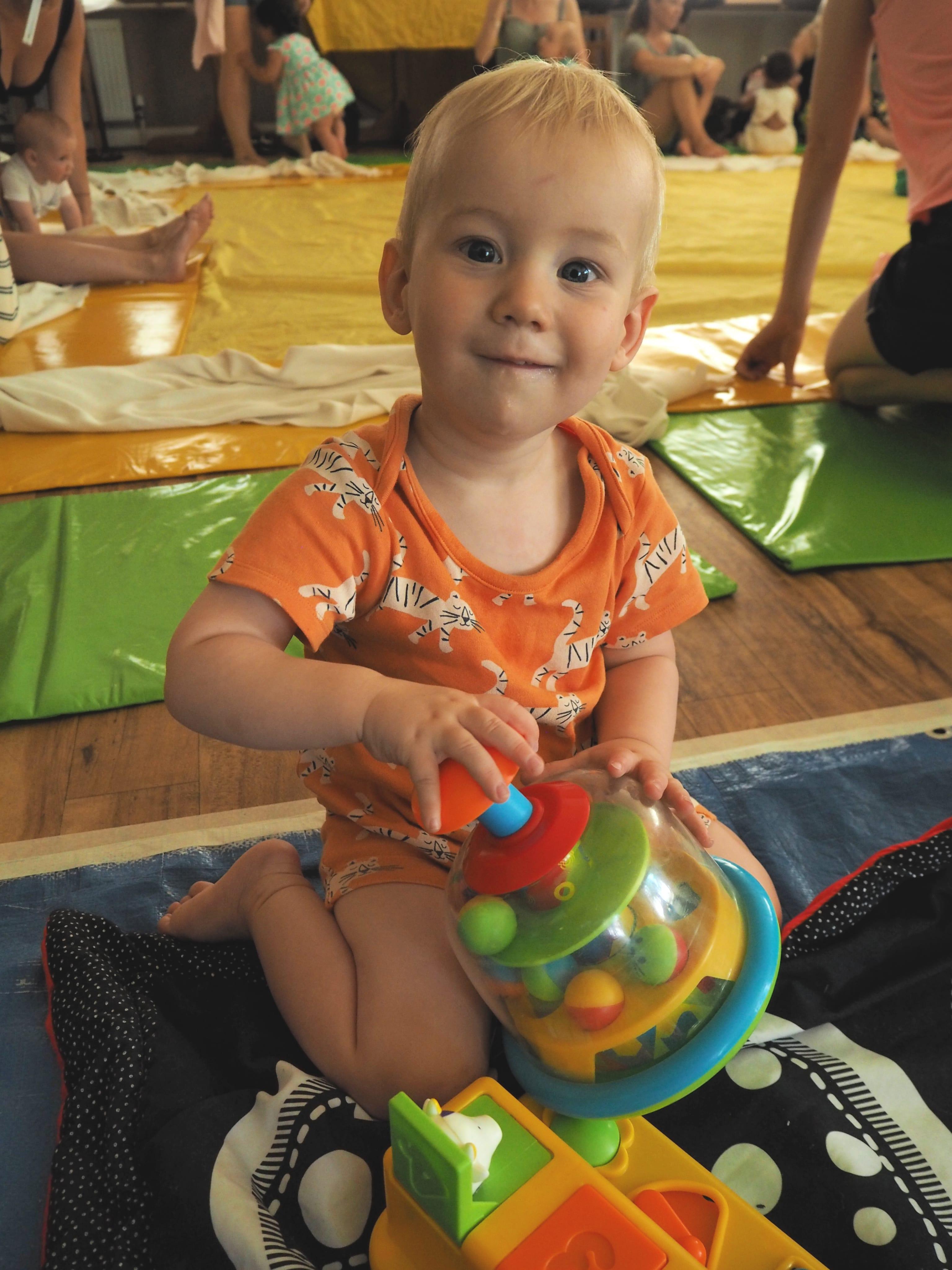 Bodhi playing at baby sensory