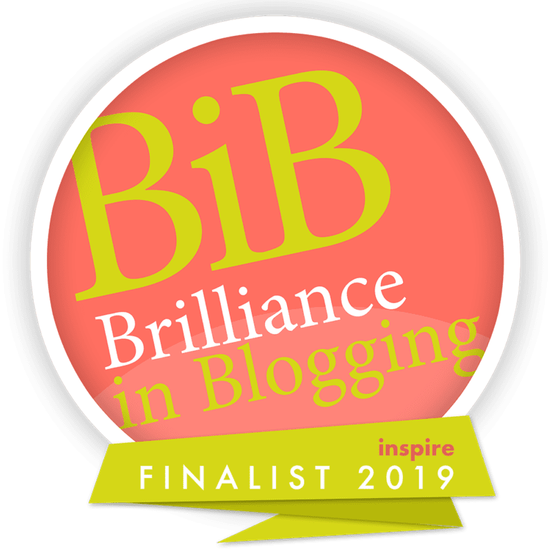 Brilliance in Blogging 2019 Inspire Finalist Badge