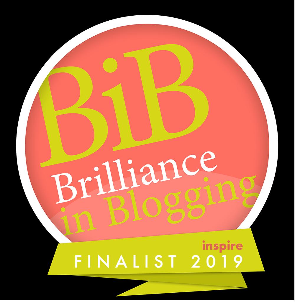 Brilliance in Blogging 2019 Inspire Finalist Badge