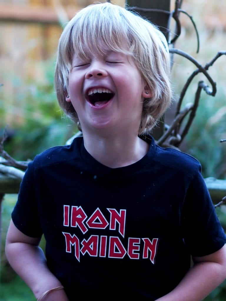 A picture of Logan laughing
