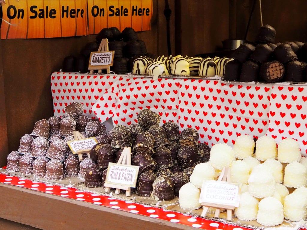 Chocolates at Christmas market