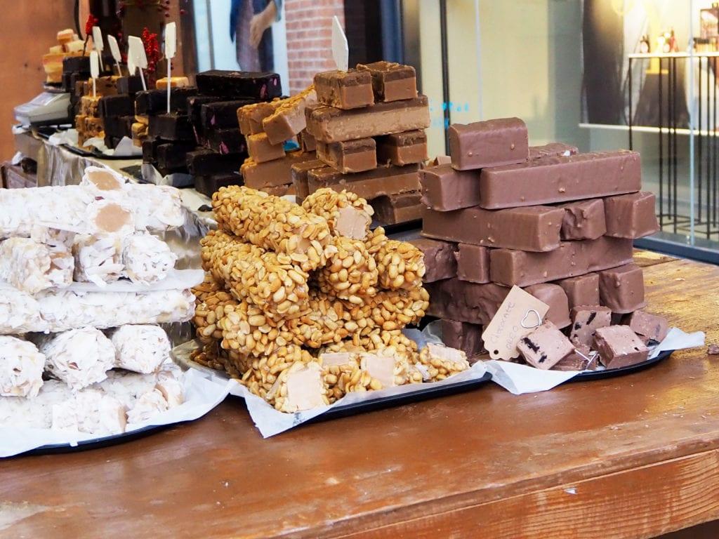 Fudge at Christmas market