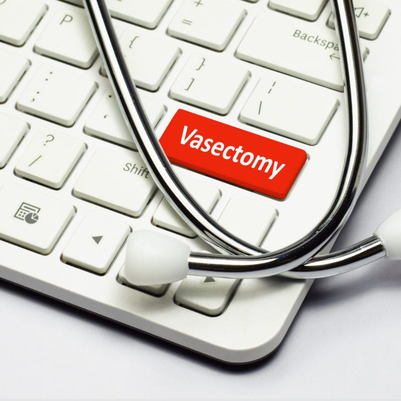 Keyboard, Vasectomy text and Stethoscope