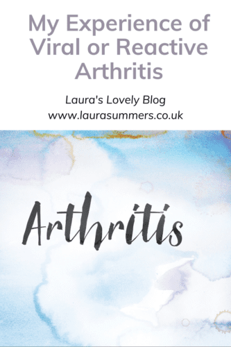 My experience or viral or reactive arthritis Pinterest pin