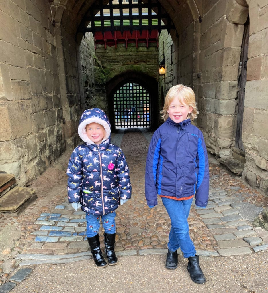 Logan and Aria at Warwick Castle