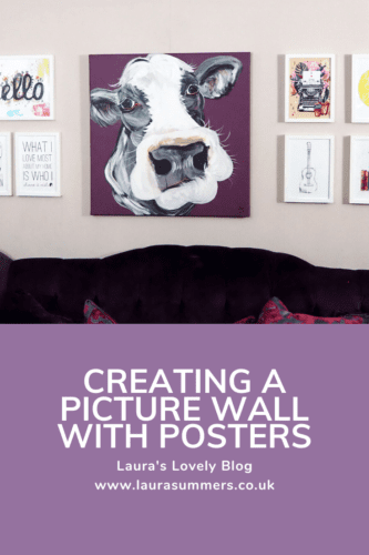 Creating a picture wall with posters Pinterest