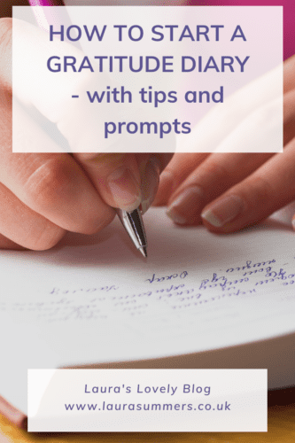 How to start a gratitude diary pinterest pin
