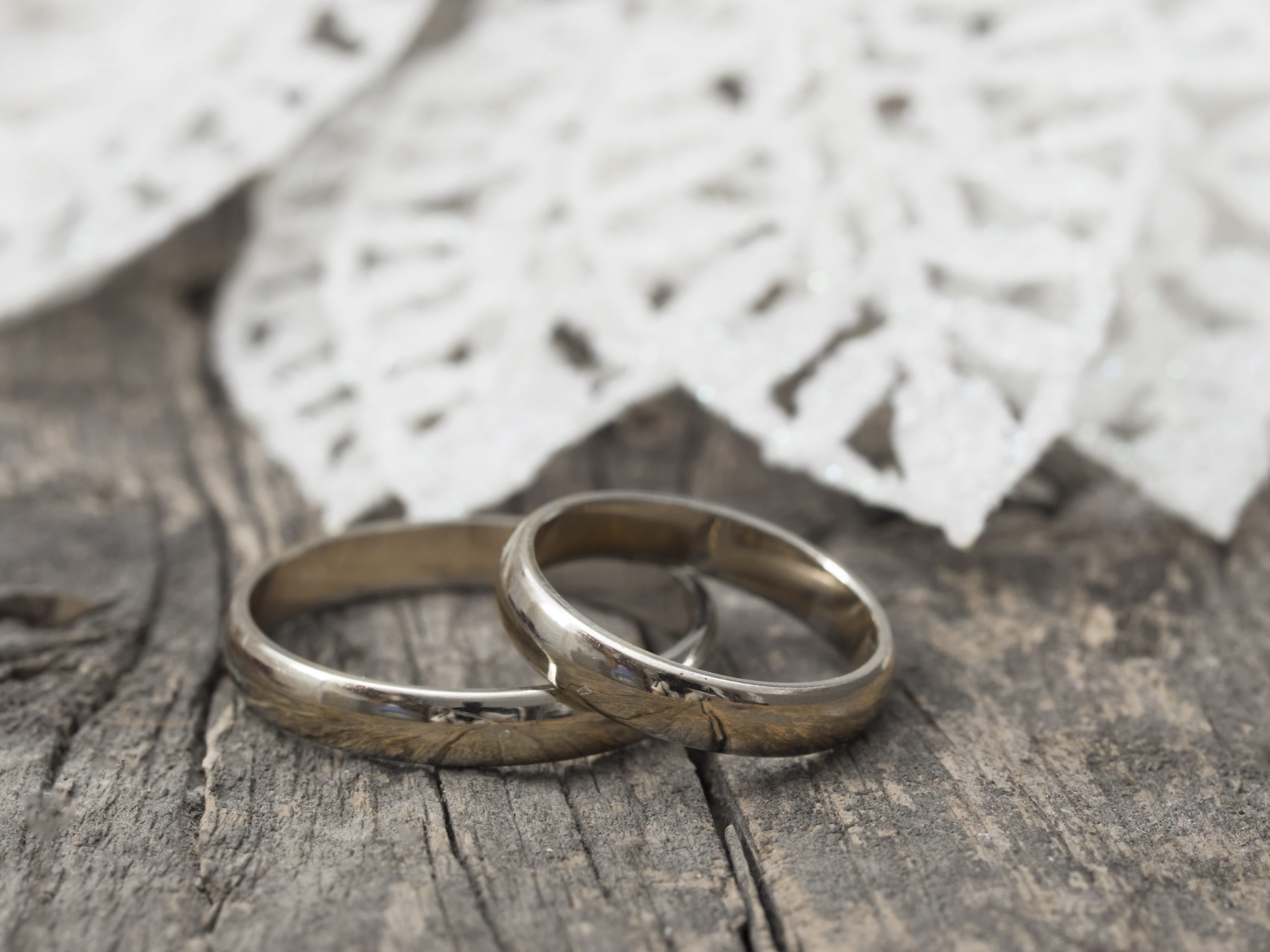 Why I am Thinking of Changing My Surname Even Though I am Happily Married - image of two wedding rings on a table