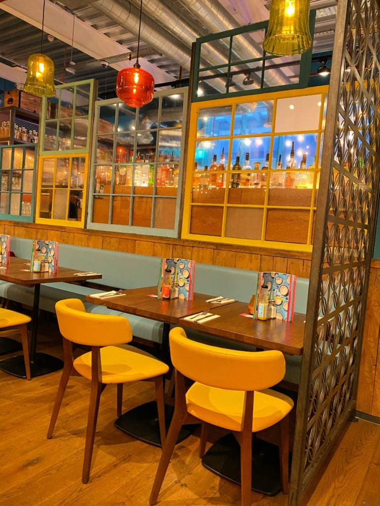 Tables and tables at Las Iguanas Bracknell