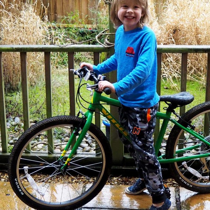 Logan on his bike a Vitus 24