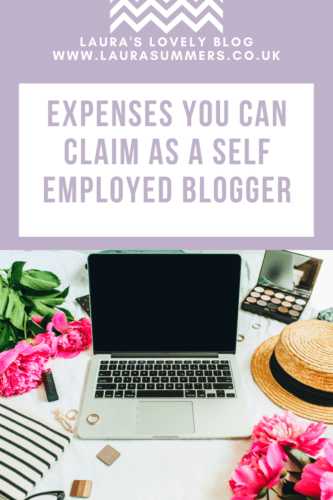 Expenses you can claim as a self employed blogger pinterest