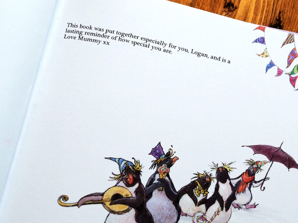 The Penguin Party book personalisation