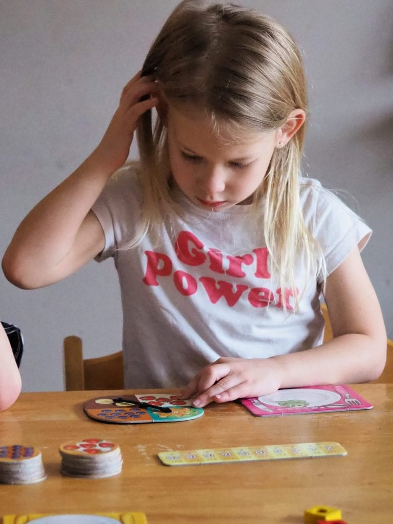 Aria playing times tables game