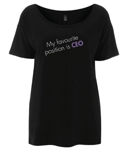 'My favourite position is CEO' Oversize T-Shirt