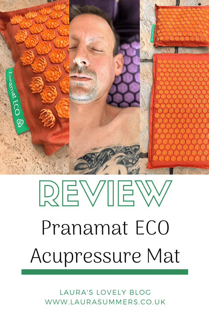 Pranamat Eco Acupressure Mat Review. An acupressure mat, ethically sourced that help relieve stress, help with back pain, headaches and anxiety.