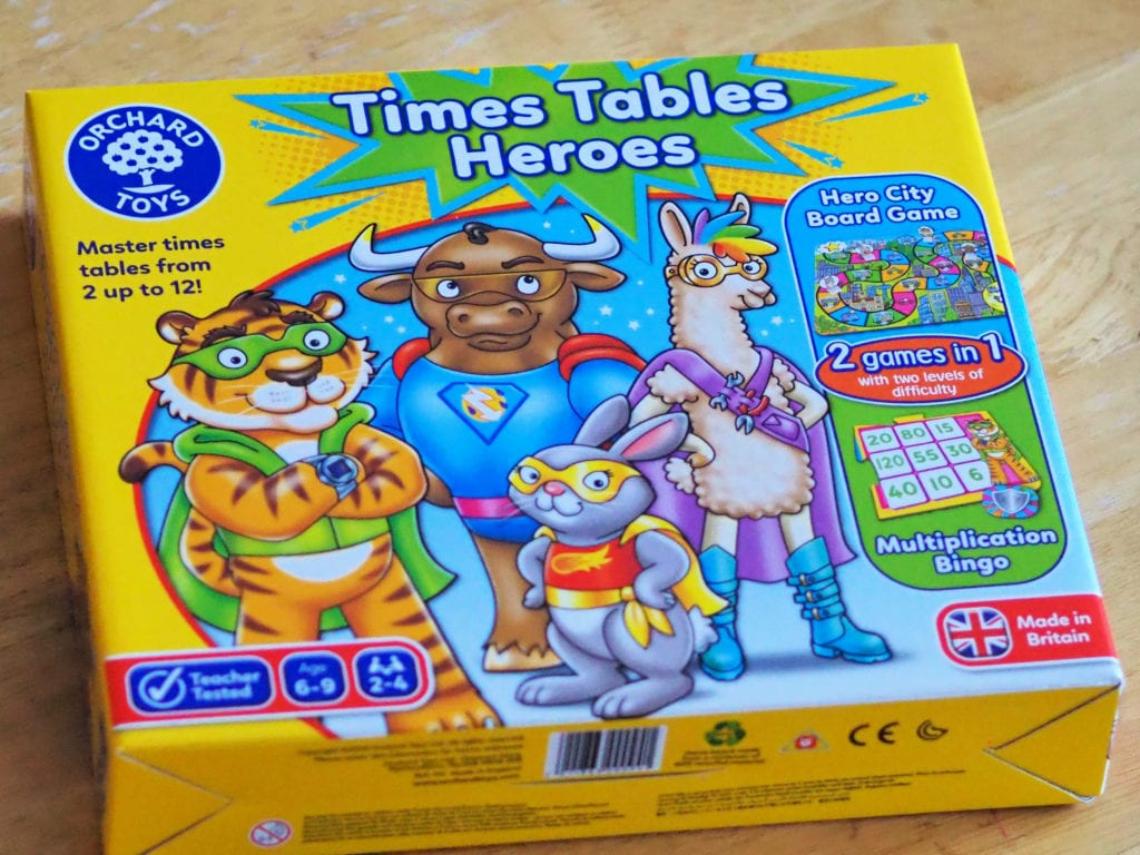 Times Tables Heroes Board Game