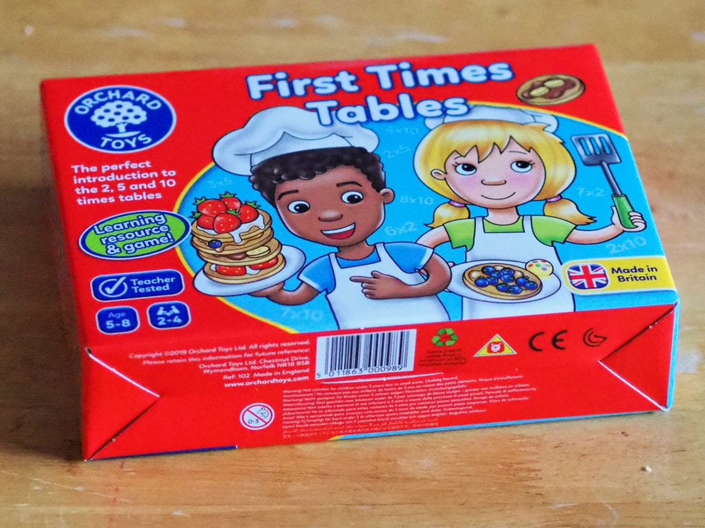 First times tables board game